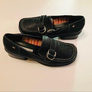 Vintage Tommy Hilfiger black chunky heeled shoes 8